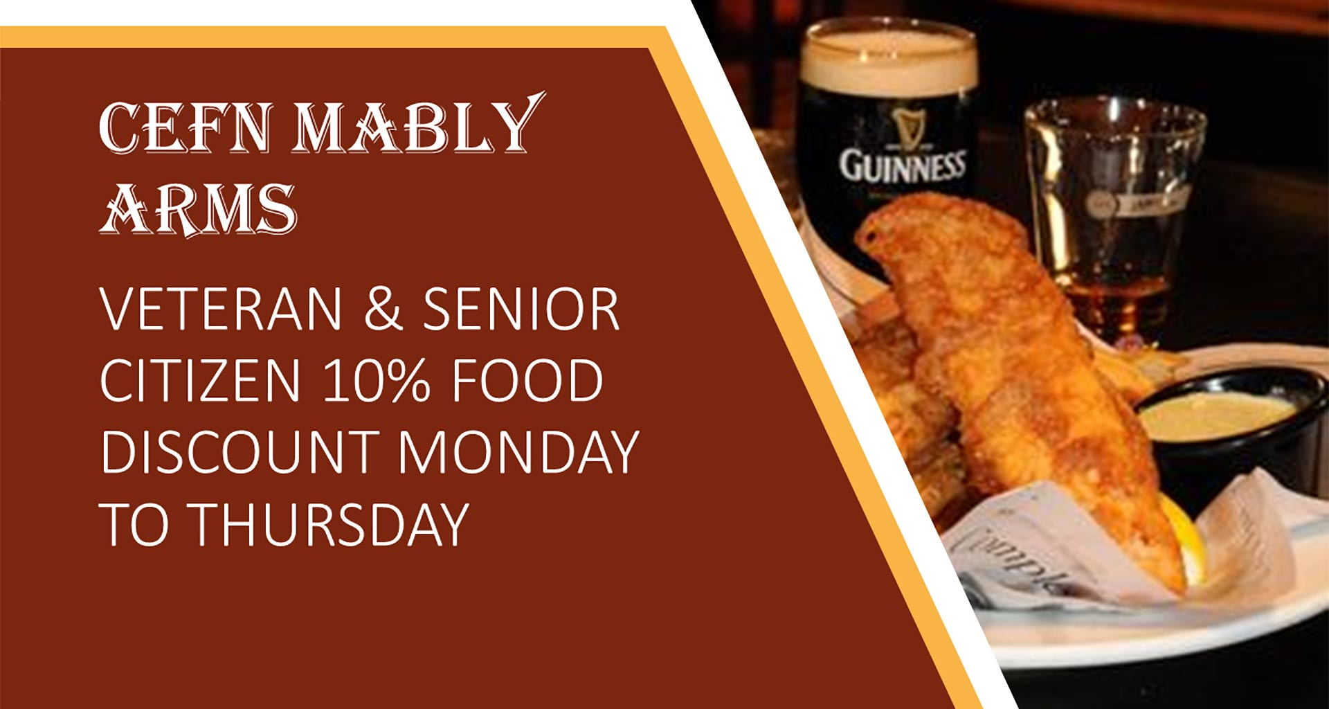 Cefn Mably Arms Senior Citizen Deal