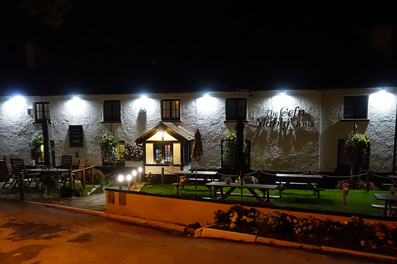 Cefn Mably Arms at Night