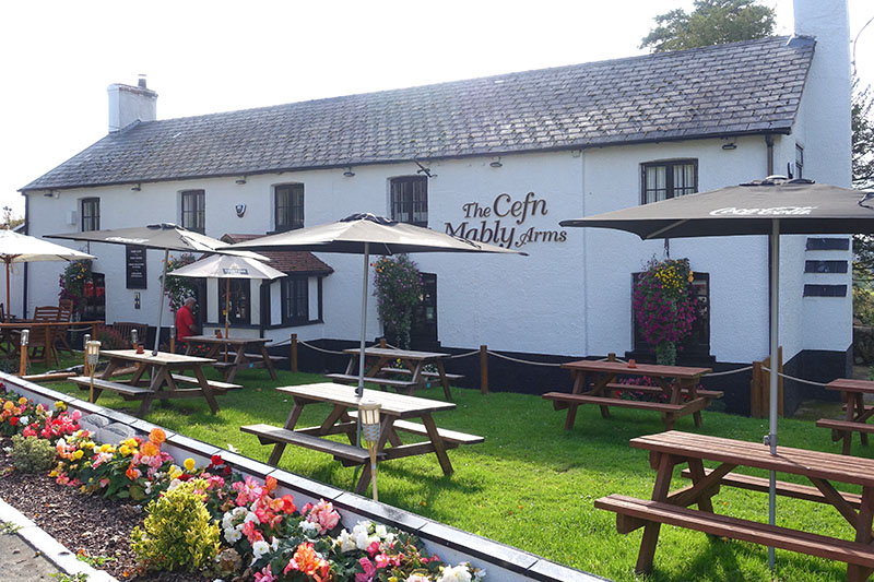 Cefn Mably Arms Front Garden